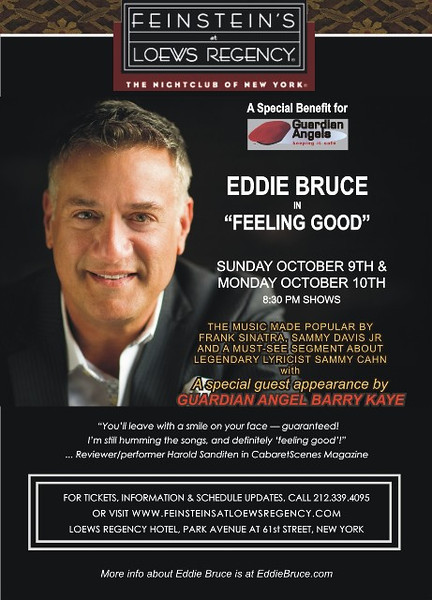 FEINSTEINS at Loews Regency Presents EDDIE BRUCE,  to Benefit The Guardian Angels