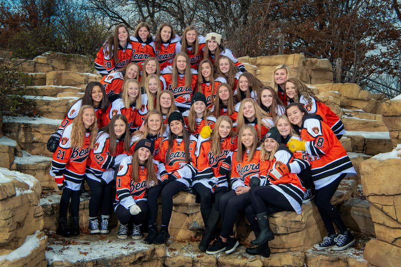 White Bear Lake Girls Hockey Group portraits