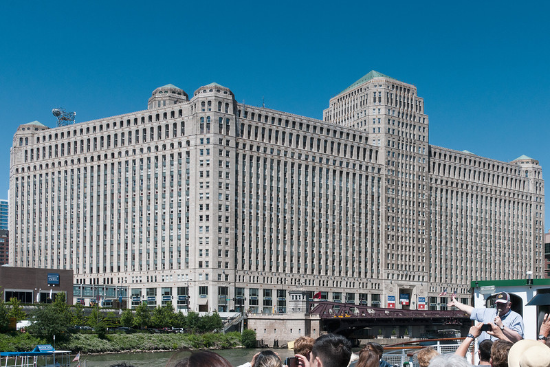 I hesitated to include this as it has the heads of people on the cruise, but the Merchandise Mart is a fantastic building, and I didn't want to crop most of it off to lose the heads.