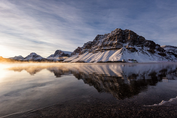 Golden Hour at Bow Lake