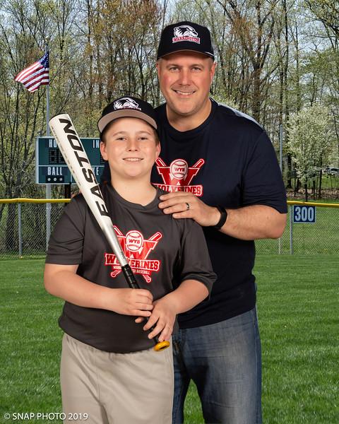 2019 Warrington Baseball Coach-Player Photos