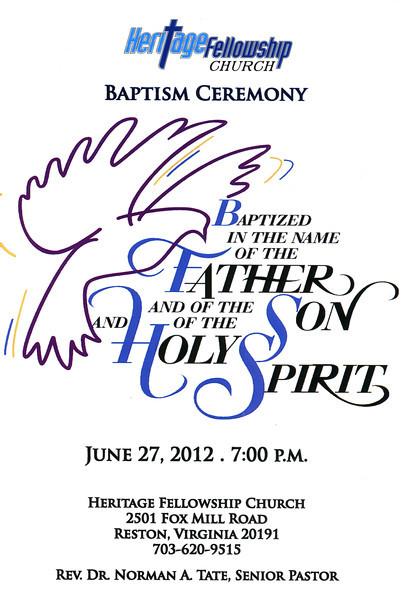 06/27/2012 -- Holy Communion & Baptism Ceremony