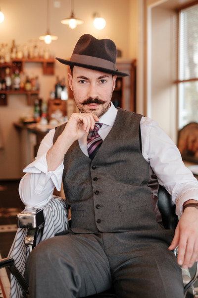 Daniele Vitale, the barber at L'Antico Barbiere in Basel