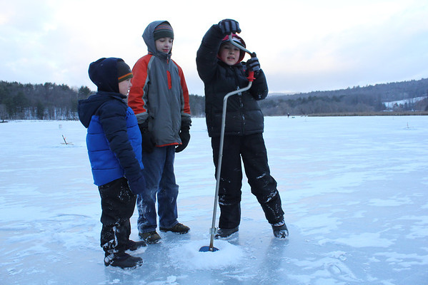 Youth Ice Fishing Derby, Quechee
