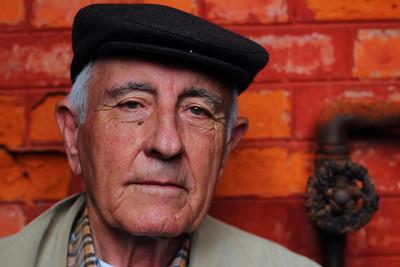 "Manuel Correia ""Patrão Manuel"" (Horta, Faial), age 83, pictured in the Porto Pim Whaling Factory. July 24, 2012."