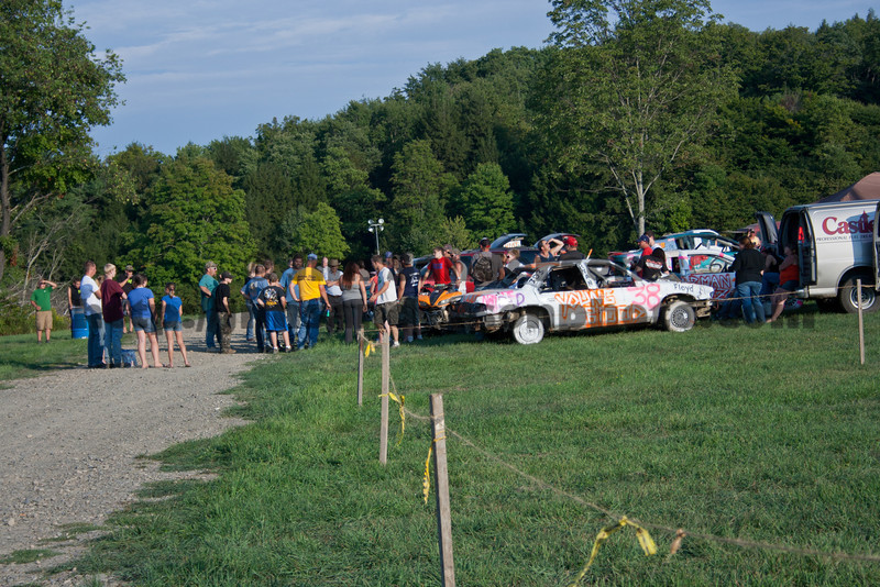 Demolition Derby at the Broome-Tioga Sports Center, Saturday, August 25, 2012
