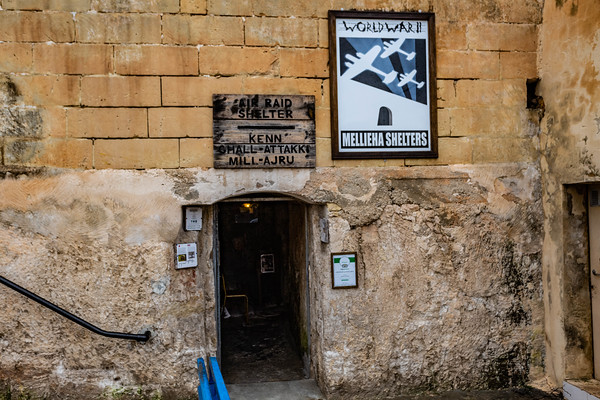 World War 2 Air Raid Shelters, Melliah, Malta -Set 2