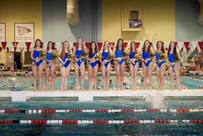 MHS Girls Swim & Dive vs. Horizon, Senior Recognition
