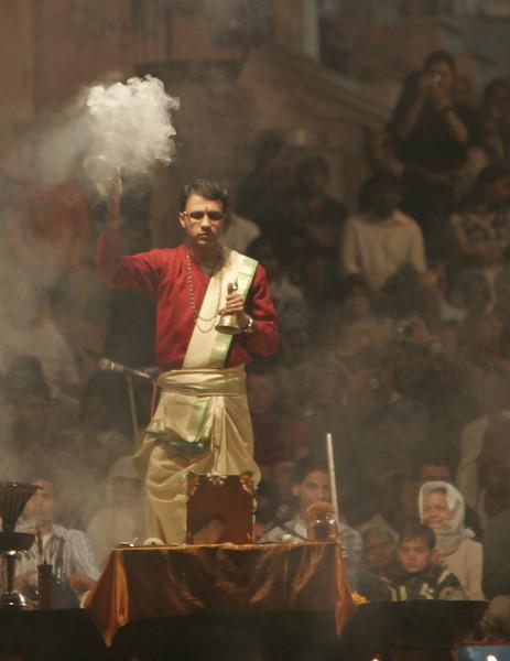 Varanasi (20 of 24)  A Hindu priest performing a puja
