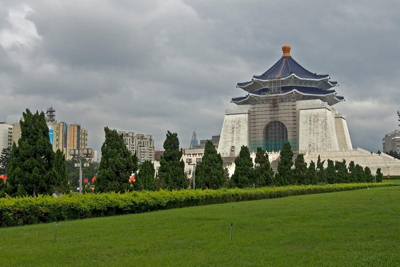 Park outside Hall of Democracy in Chiang Kai-shek Memorial Hall - Taipei, Taiwan