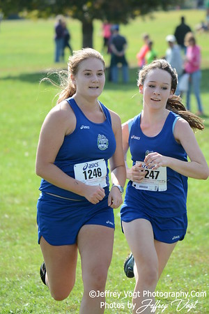 10-18-2014 MCPS Cross Country Championships, 11-12 Girls at Bohrer Park, Photos by Jeffrey Vogt Photography
