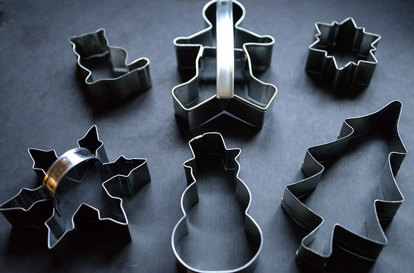 An assortment of cookie cutters