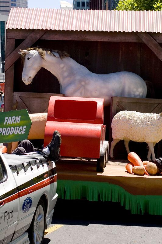 Feet up Santa Parade Auckland  New Zealand - 27 Nov 2005