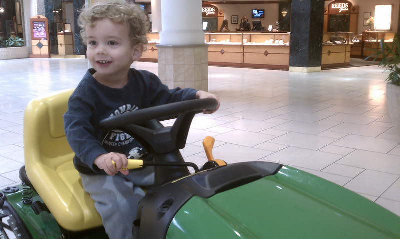 Ty and his mower... in a mall