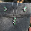 Tiffany & Co. Bubble Diamond and Tsavorite Earrings 8