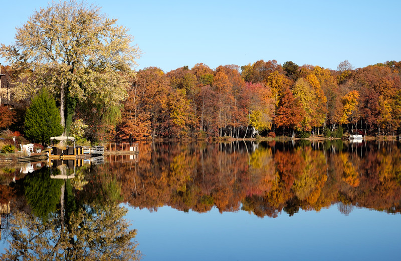Lake Thoreau in the fall