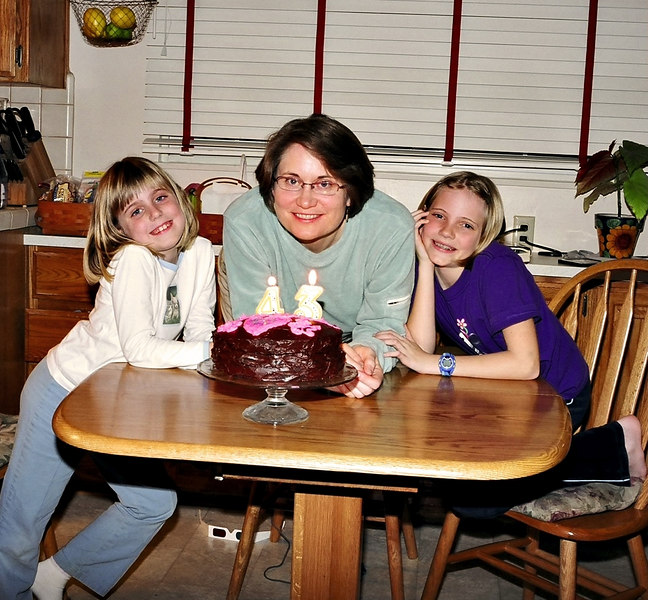 The girls on Shelly's birthday.