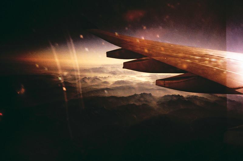 flight. film cross processed.