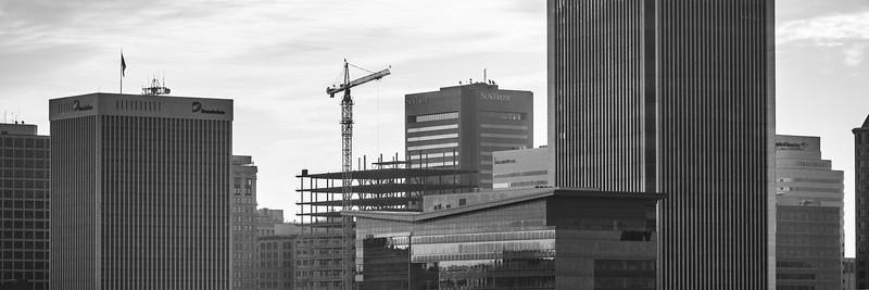 Urban skyline with new construction