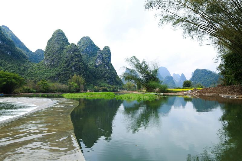 Jinbao river in Yangshuo