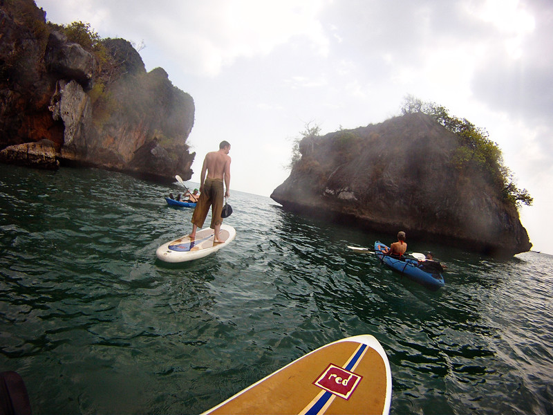 Experimenting with stand up paddleboards and a GoPro.