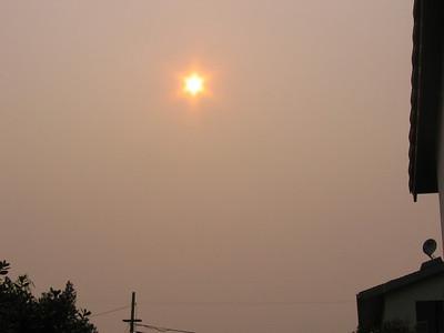 smoky skies in cotati