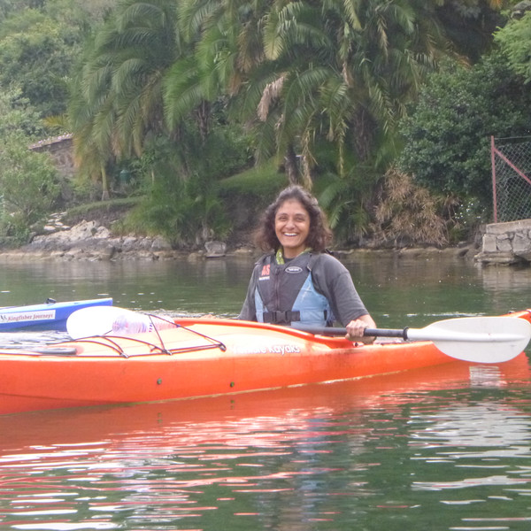 Kayaking on Lake Kivu