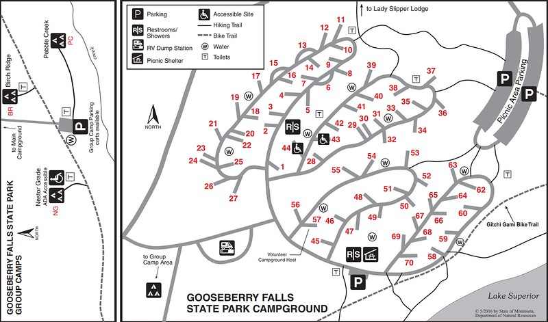 Gooseberry Falls State Park (Campground Map)