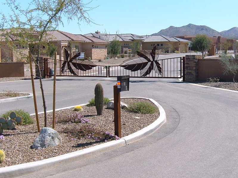 HOA Dual Swing gate with phone system