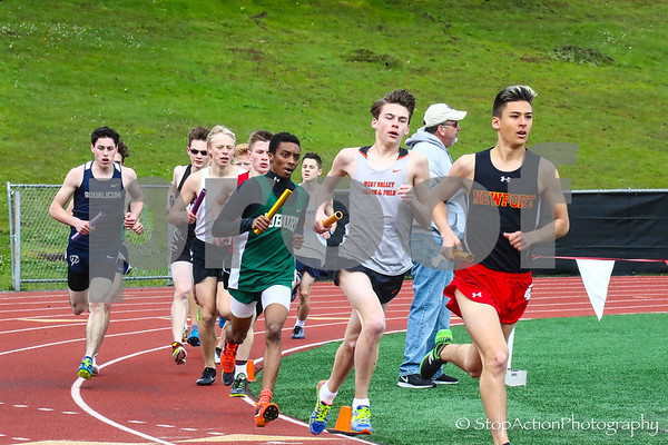 2018-04-21 Eason Invitational Boys Track Relay Events
