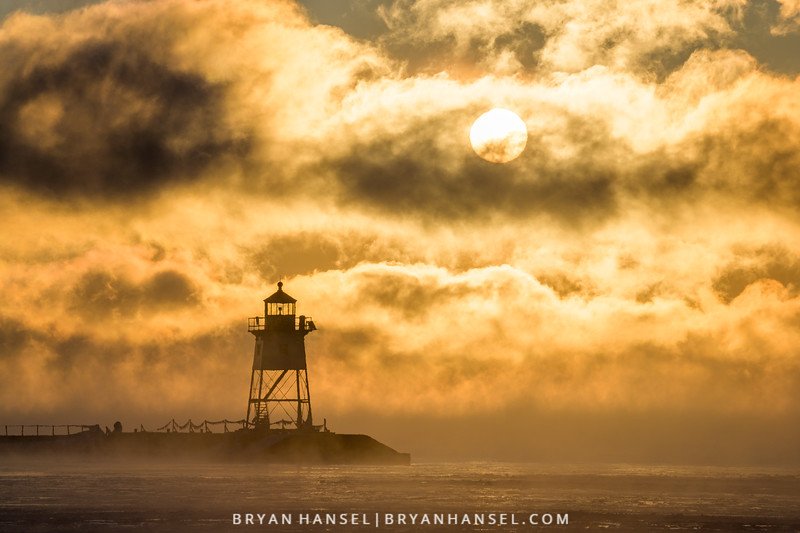 Sea Smoke, the Sunshine and Lighthouse