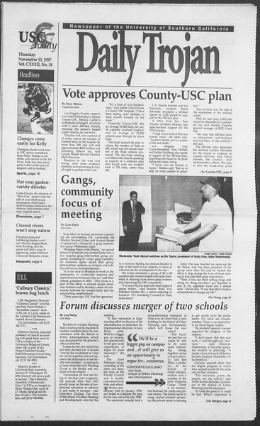 Daily Trojan, Vol. 132, No. 54, November 13, 1997