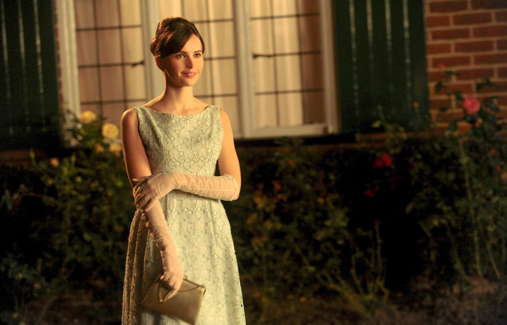 """. This image released by Focus Features shows Felicity Jones as Jane Wilde in a scene from \""""The Theory of Everything.\"""" Jones was nominated for a Golden Globe for best actress in a drama for her role in the film on Thursday, Dec. 11, 2014. The 72nd annual Golden Globe awards will air on NBC on Sunday, Jan. 11. (AP Photo/Focus Features, Liam Daniel)"""