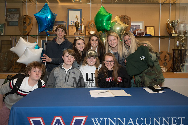 2019-3-13 WHS Signing Day Jenna Fiore and Brennan Kittredge