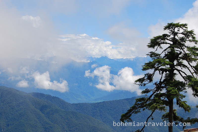 view of HImalays from Dochula Pass Bhutan.jpg