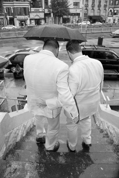 Chris & Stephen Wedding Black and White