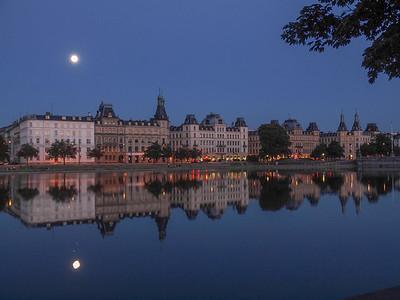 Copenhagen in moonlight