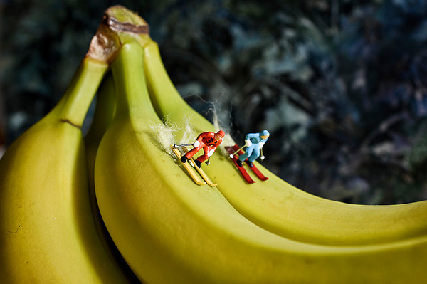 0103 recreation  The little people take to the bananas.