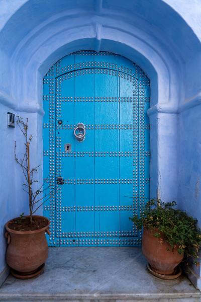 Door in Chefchaouen, Morocco