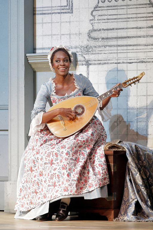 "Jeanine De Bique as Susanna in Mozart's ""The Marriage of Figaro."""