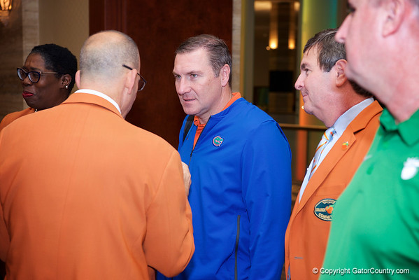 Florida Gators arrive at the Orange Bowl