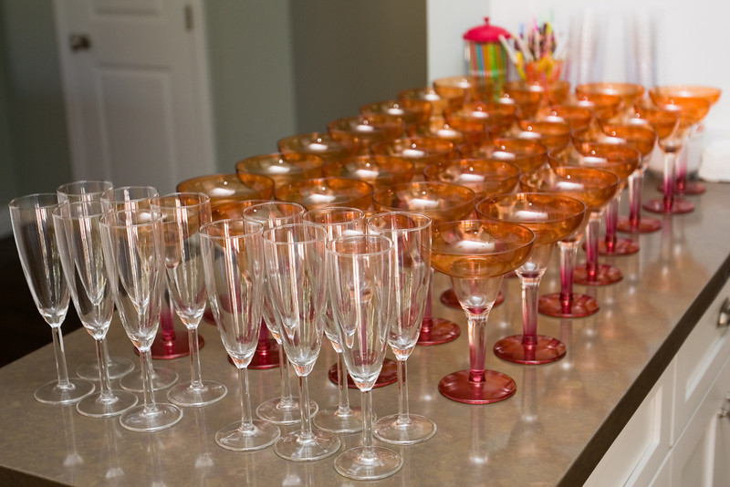 The bar is ready and waiting for guests to arrive