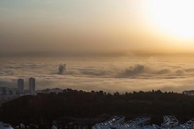 Haifa in fog