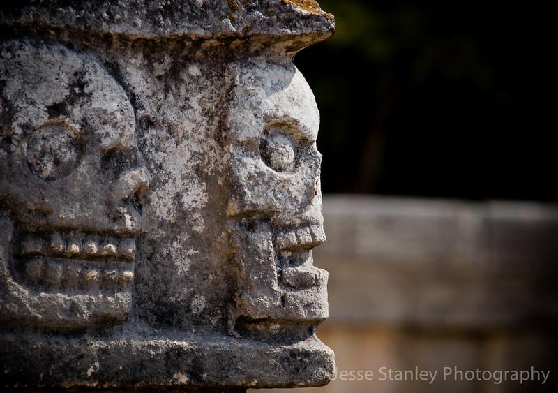 Detail from the Platform of Skulls, Chichen Itza