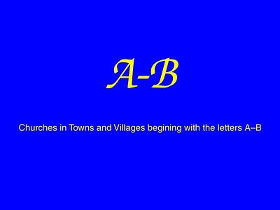 A–B Churches