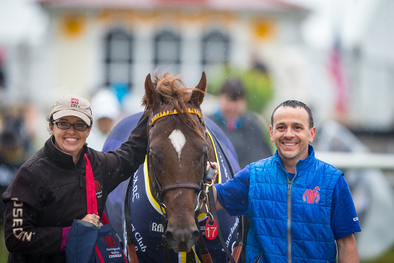 Irish War Cry (Curlin) wins the Pimlico Special at Pimlico on 5.18.2018. Jose Ortiz up, Graham Motion trainer, Isabelle Haskell de Tomaso owner.
