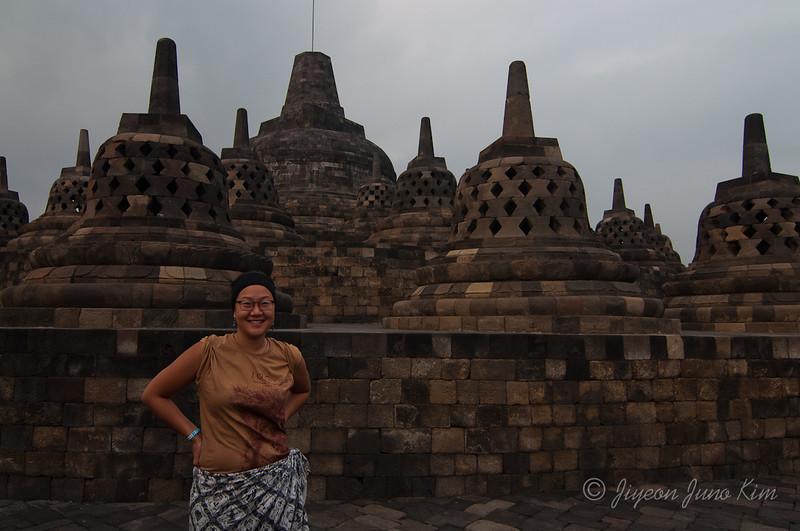 Juno at Borobudur temple