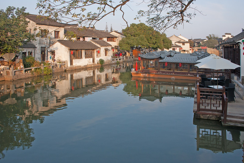 The town and a canal in the town of Tongli, China
