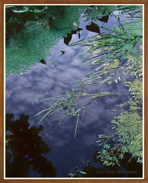 Stream and Cloud Reflections