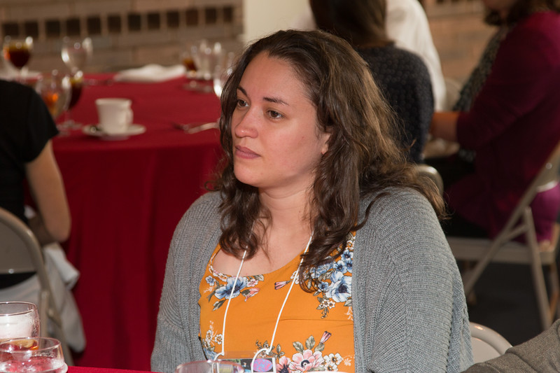 """Samantha Wallace (2018 Scholar) -- An award luncheon, """"Dr. John Mather Nobel Scholars Program Award"""", as part of the National Space Grant Foundation. College Park Aviation Museum, College Park, MD, August 2, 2019."""